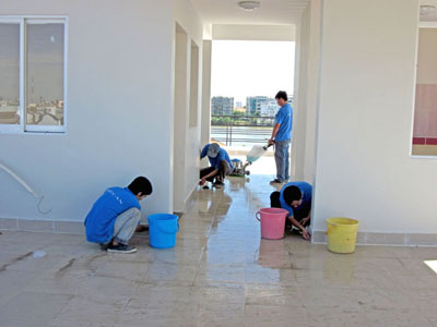 Dịch vụ vệ sinh sau xây dựng
