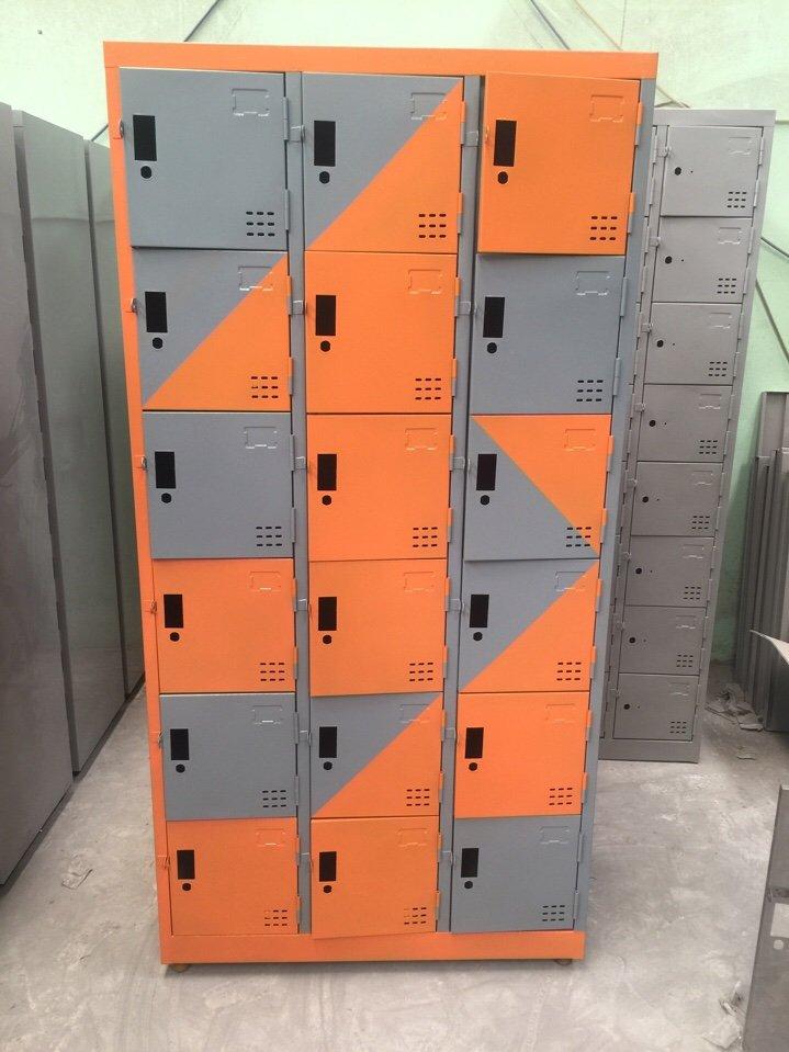 Tủ locker 18C3K phối màu