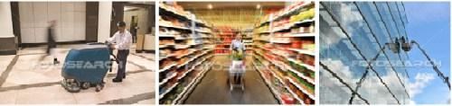 DV vệ sinh siêu thị, khu TM