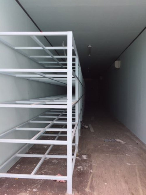 Làm kệ container theo thiết kế