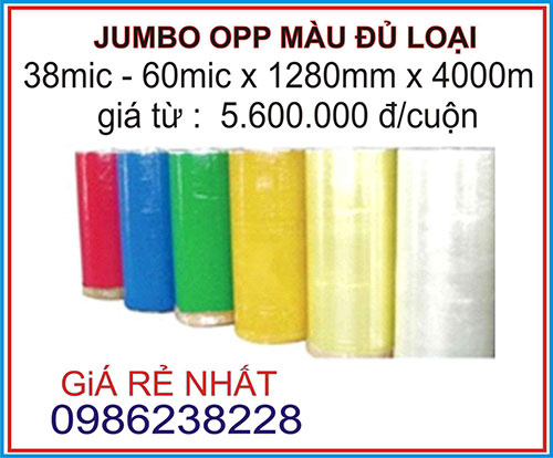 Jumbo OPP màu đủ loại