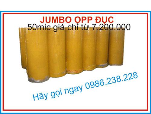 Băng keo Jumbo 50 Mic đục