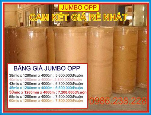 Jumbo OPP bảng giá tham khảo