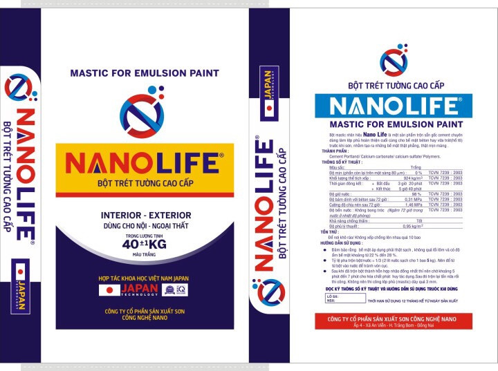 Bột Trét Tường Nanolife