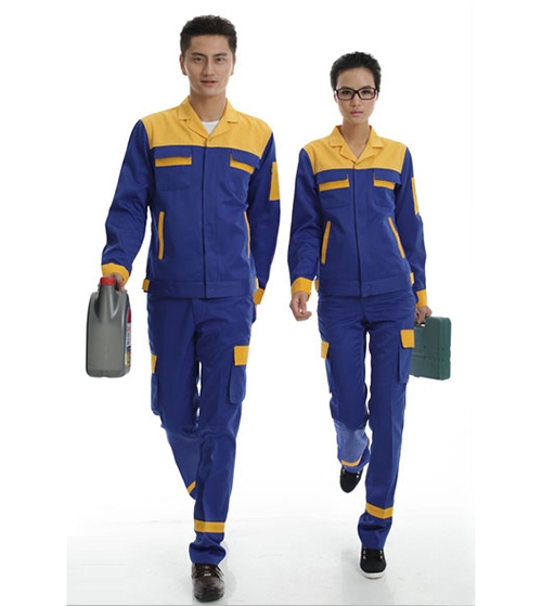 Bảo hộ lao động phối màu xanh vàng