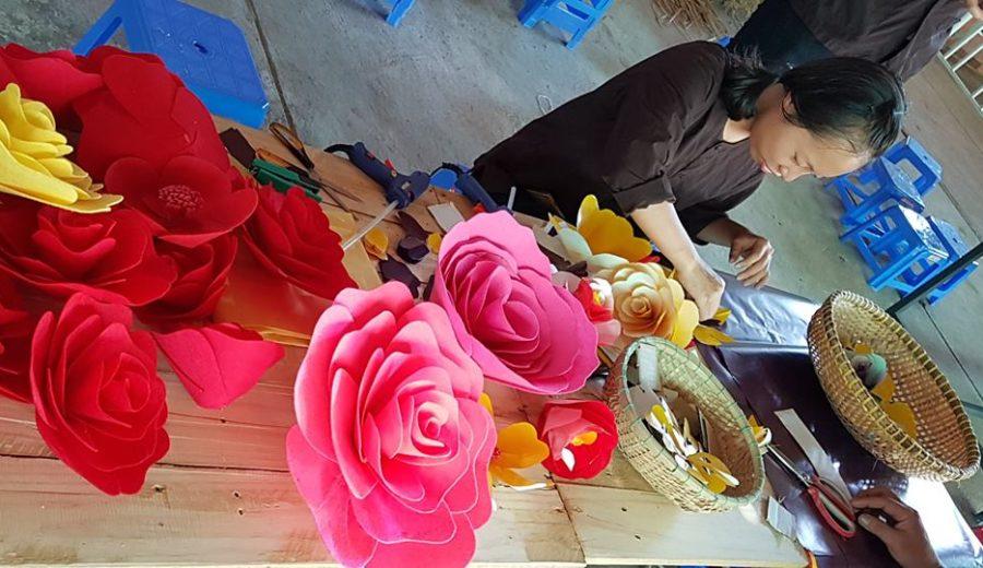 Học làm hoa giấy