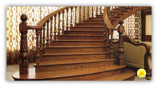 Bậc cầu thang gỗ