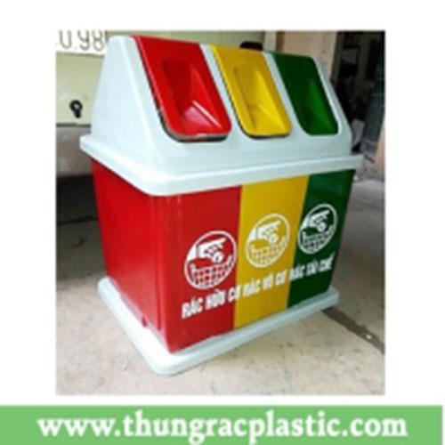 Thùng rác composite 3 ngăn