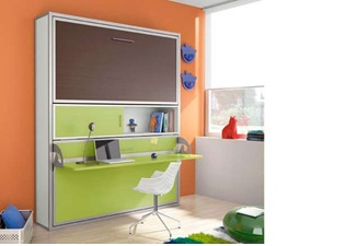 Giường bàn học thông minh xếp gọn kiểu 2 tầng