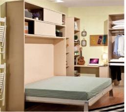 Giường thông minh xếp gọn kiểu ngang