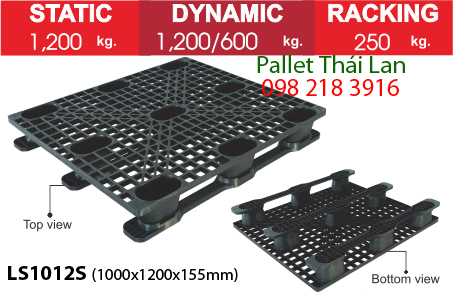 Pallet nhựa dùng trong xuất khẩu hàng