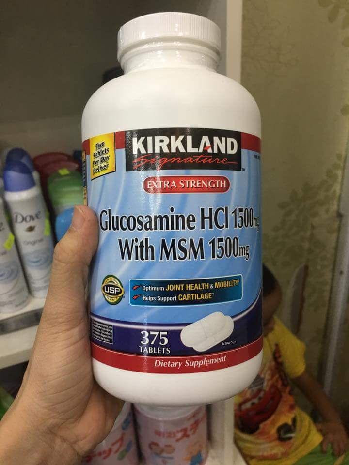 Glucosamine HCL 1500mg Kirkland with MSM