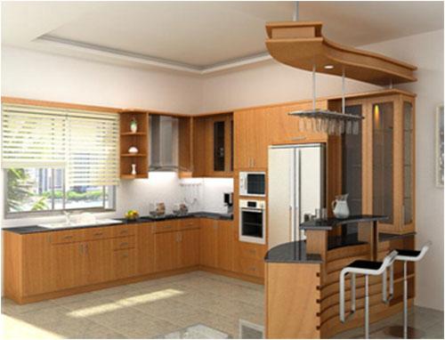 Tủ bếp gỗ Thông Lào