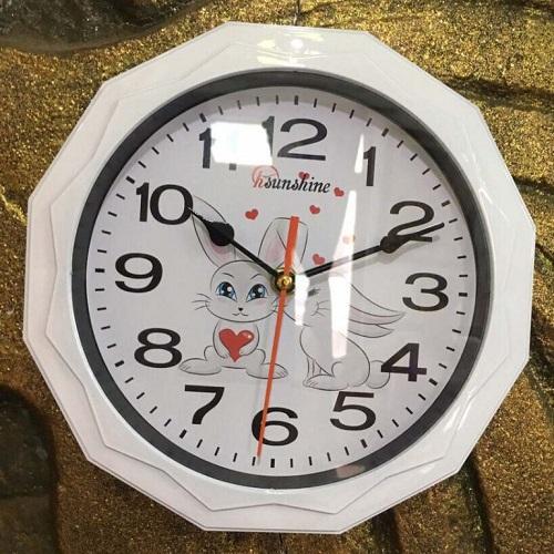 Đồng hồ 12 cạnh gắn bàn học sinh