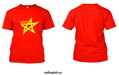 Áo thun cờ đỏ sao vàng cách điệu