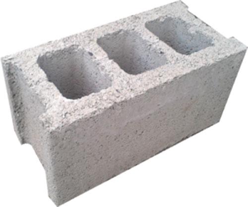 Gạch Block 3 lỗ lớn 190x190x390
