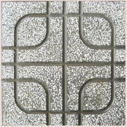 Gạch Terrazzo chữ thập xám