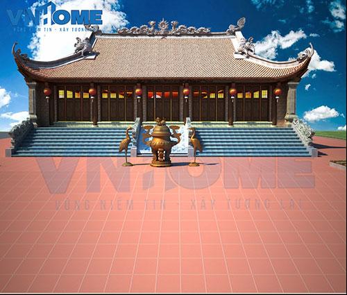 Thiết kế kiến trúc nhà chùa