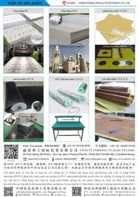Tấm nhựa PP&PVC
