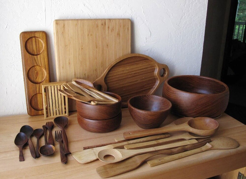 Bộ đồ dùng nấu ăn bằng gỗ