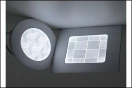 Đèn ốp nổi vuông 3D