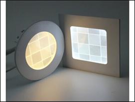Đèn âm trần mỏng vuông 3D