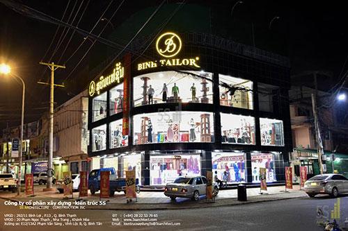 Thi công shop Bình Tailor