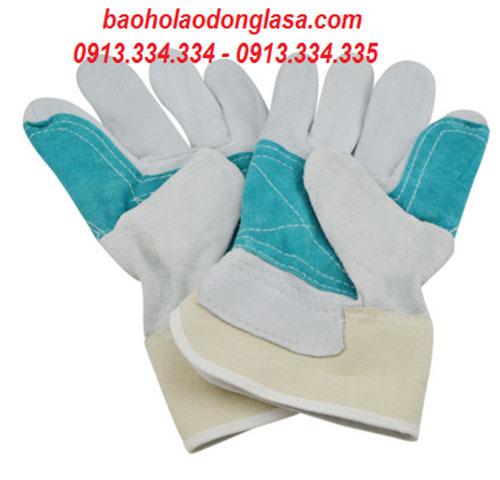 Găng tay da vải kết hợp