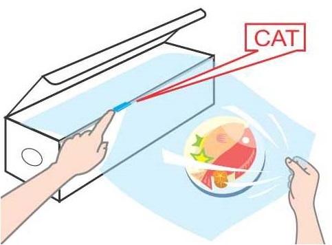 Dao cắt màng bọc thực phẩm