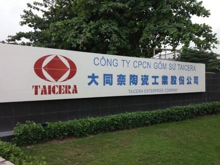 Thi công bảng tên Taicera