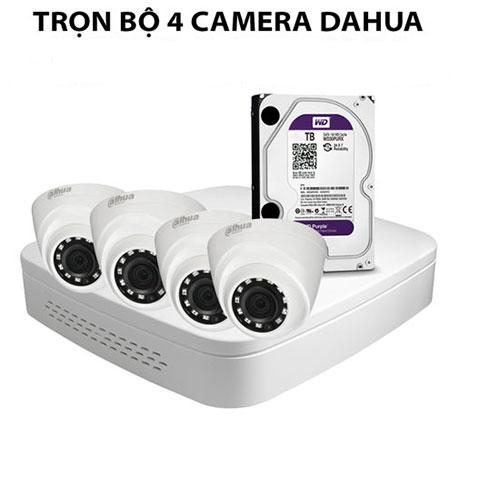 Trọn bộ 4 camera Dahua
