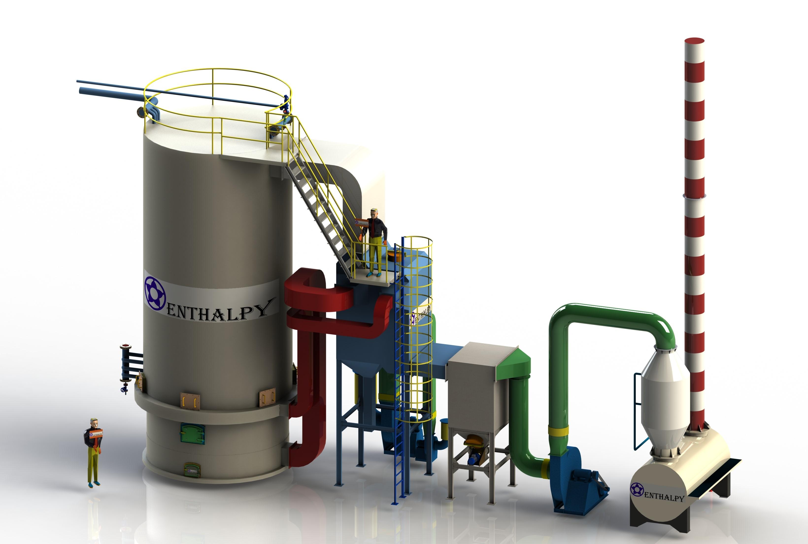 Lò dầu tải nhiệt đứng