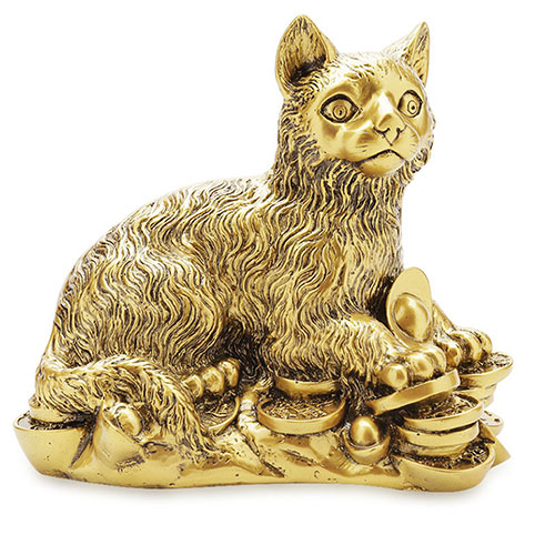 Tượng mèo phong thủy đồng