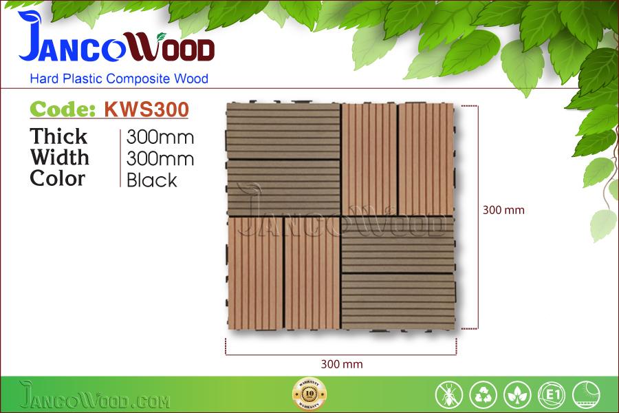 Tấm vỉ gỗ nhựa KWS300-Black