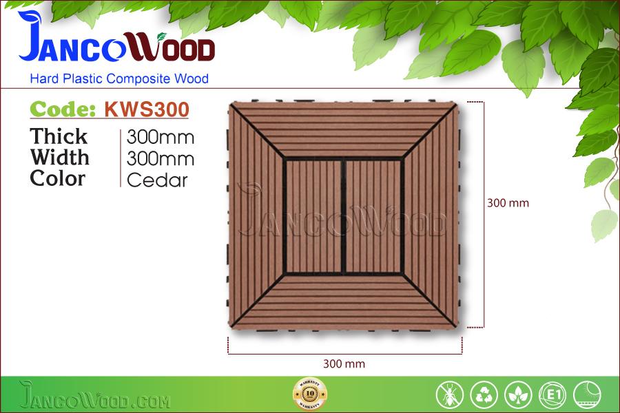 Tấm vỉ gỗ nhựa KWS300-Cedar