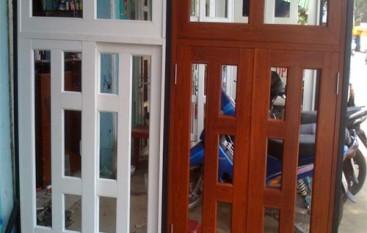 Sơn tĩnh điện vân gỗ cửa sổ