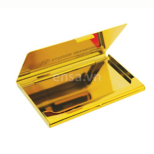 Hộp name card mạ vàng