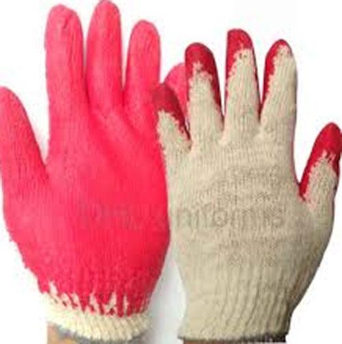 Găng tay phủ sơn đỏ