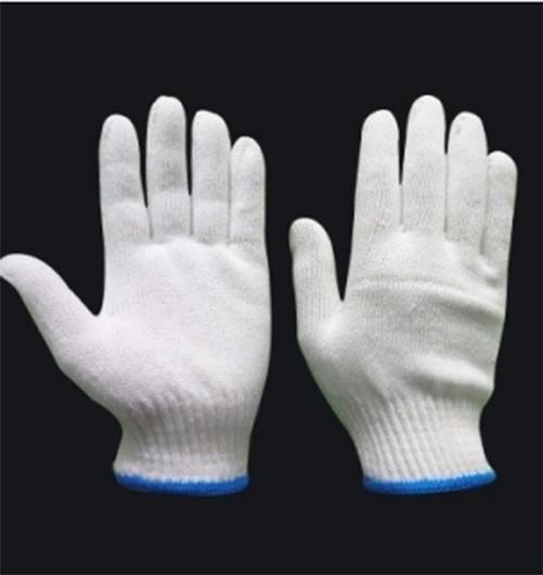Găng tay len trắng
