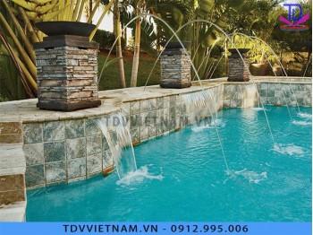 Đài phun nước cho bể bơi hiện đại