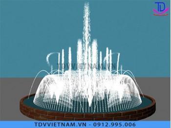 Đài phun nước mini hình tròn
