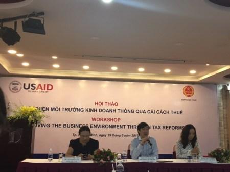 Tham dự hội thảo cải cách thuế