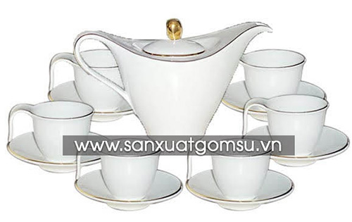 Bộ trà men trắng