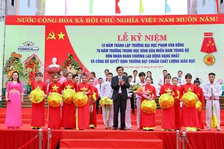 Sự kiện kỉ niệm 10 năm thành lập trường đại học Phạm Văn Đồng