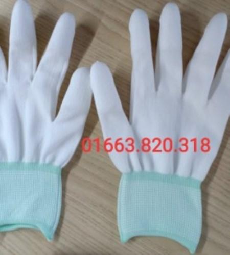 Găng tay PU phủ ngón màu trắng