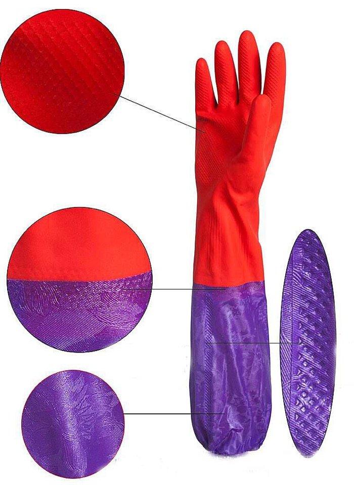 Găng tay cao su lót nỉ