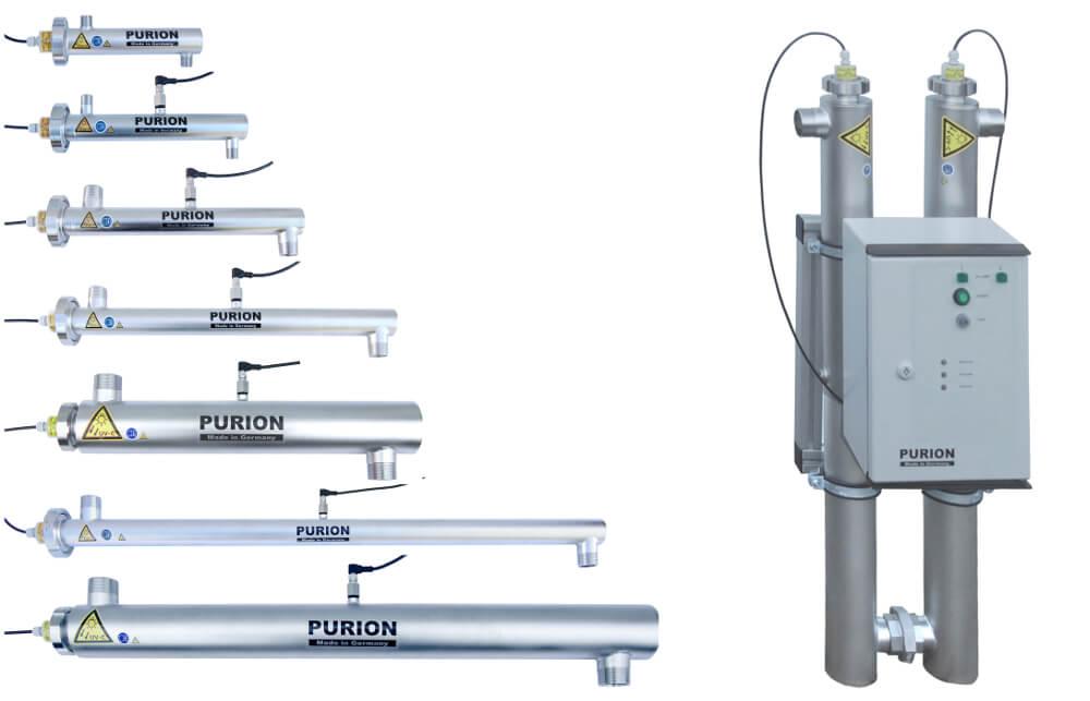 Thiết bị diệt khuẩn đèn UV - Purion với nhiều công suất