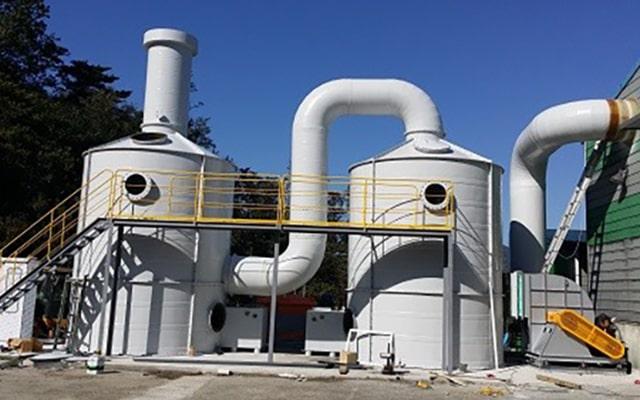 Xử lý khí thải hạt nhựa