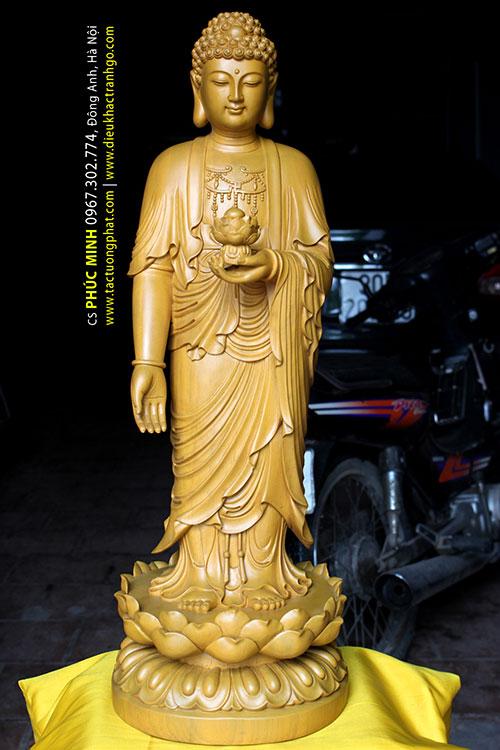 Phật A Di Đà đứng tiếp dẫn