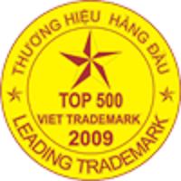 Chứng nhận Top 500 thương hiệu hàng đầu